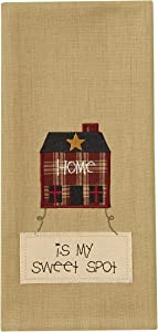 Park Designs Home is My Spot Embroidered Dishtowel