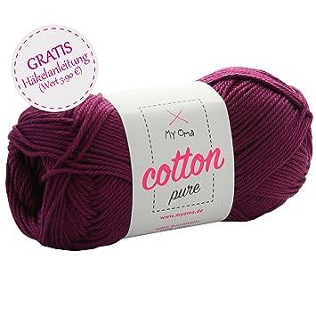 Baumwollgarn häkeln *MyOma Cotton pure purpur (Fb 0049 ...