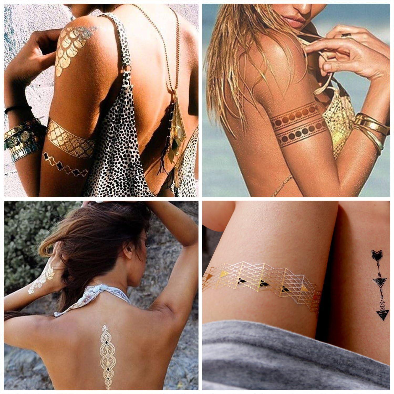 Tatuajes Adhesivos, Rymall 10 pcs Tatuajes Temporales Adultos ...