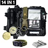 Emergency Survival Kit Camping Hiking Gear Outdoor Tactical Climbing Tools Compact Kits Blanket Compass Hunting Knife Tool Wilderness Multi Bracelet Fire Adventures Pen by Outdoor Adventures