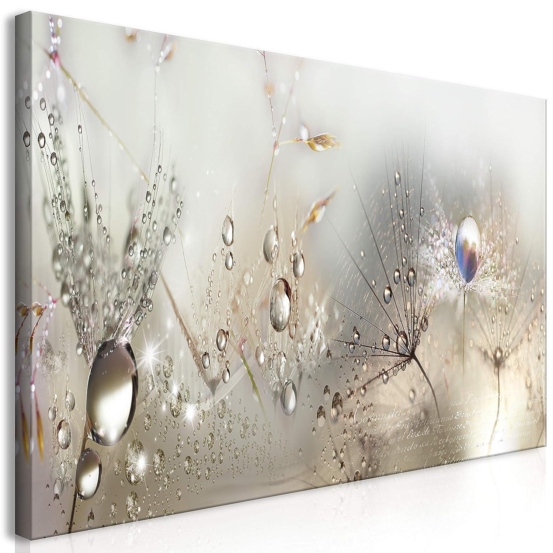 murando Mega XXXL Pusteblume Wandbild 160x80 cm - Einzigartiger XXL Kunstdruck zum Aufhängen Leinwandbilder Moderne Bilder Wanddekoration - Blumen Natur grau Pusteblumen b-C-0169-ak-f