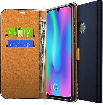 Yocktec Funda para Huawei P Smart 2019, Funda de Billetera con Tapa de Cuero Ultra Slim Premium PU con Bolsillos para Tarjetas y Soporte para Smartphone Huawei P Smart 2019 (Azul): Amazon.es: