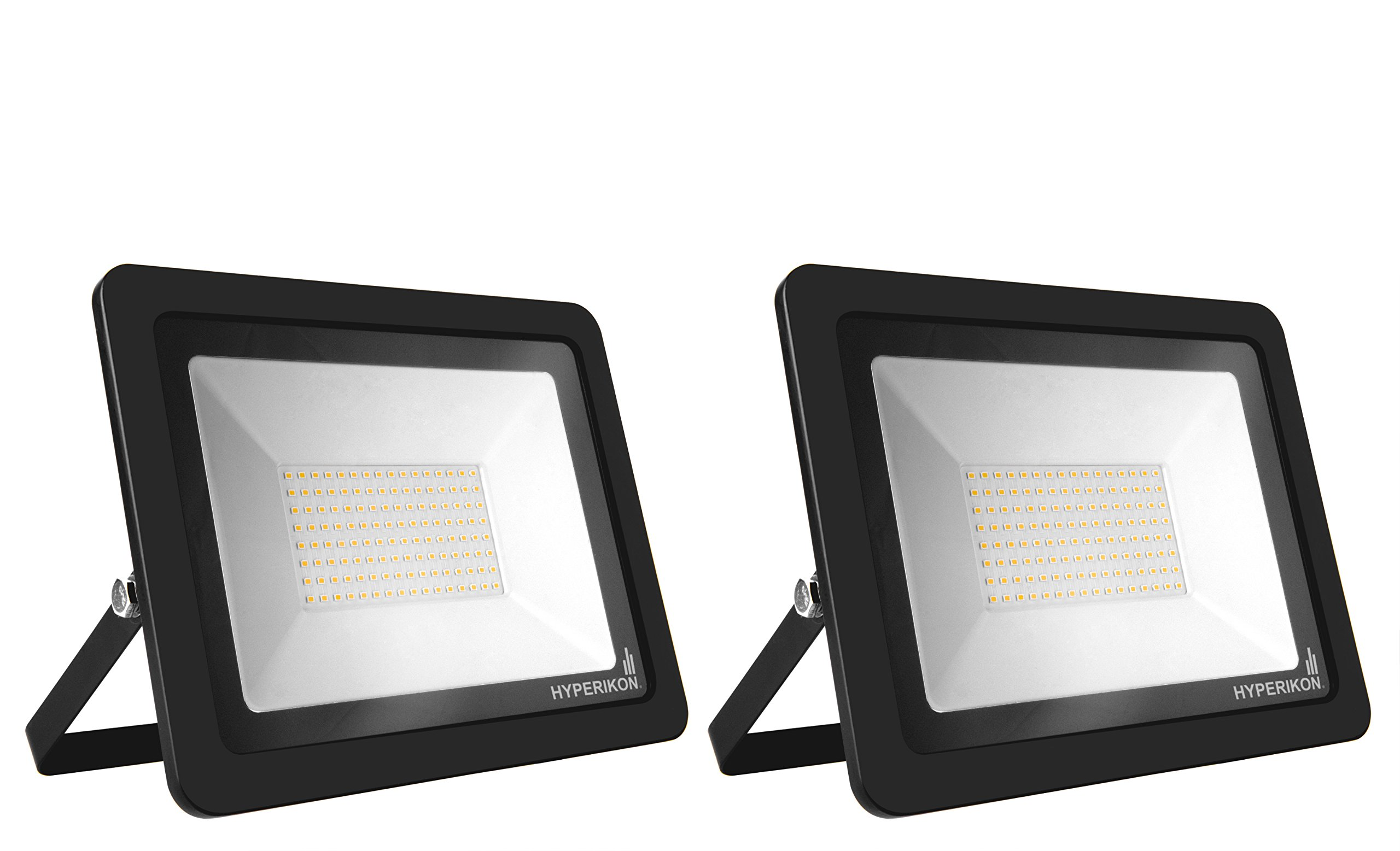 Hyperikon LED Flood Light 200W (1000 Watt Eq.) 180° Rotatable Bracket, 5000k,16000 Lm, Super Bright Outdoor LED Floodlight, Weatherproof IP65, Suitable for Dry and Damp Locations, 110V, 2-Pack