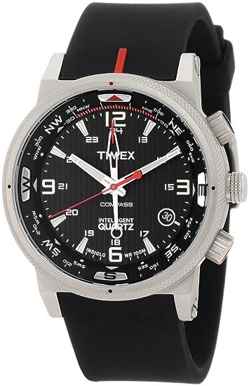 Timex T2N724DH - Reloj de Pulsera Hombre, Silicona, Color Negro