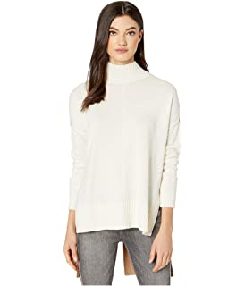 BCBGMAXAZRIA Women's Fringe Turtleneck Tunic Sweater at