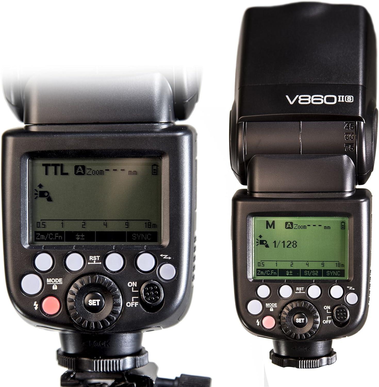 Speedlite Flash Multi-Flash stroboscopique Godox Olympus V860II Ving Kit Flash Comprenant Un diffuseur Softbox /à rev/êtement UV de 20 cm Flash Portable Li-on 2.4G TTL HSS