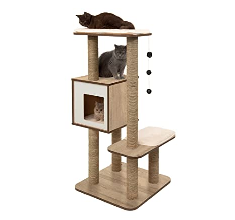 Vesper Mueble Rascador para Gatos V-High Base, Roble