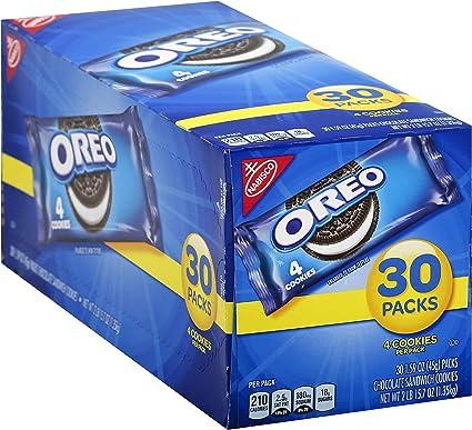Oreo Chocolate Sandwich Cookies, 30-1.59 oz Snack Packs