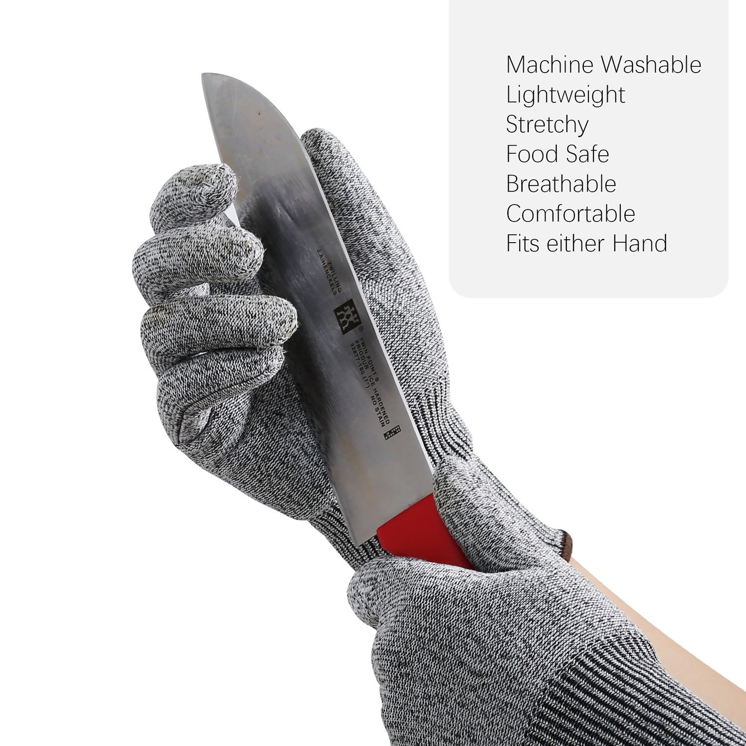 Ibowooforrest Cut Resistant Gloves Food Grade Level 5 Protection (Small)