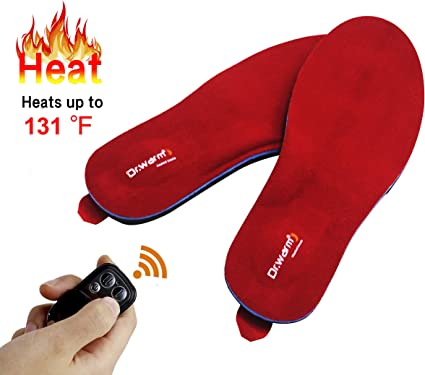 Dr.warm Rechargeable Heated Insole with Remote Control Switch