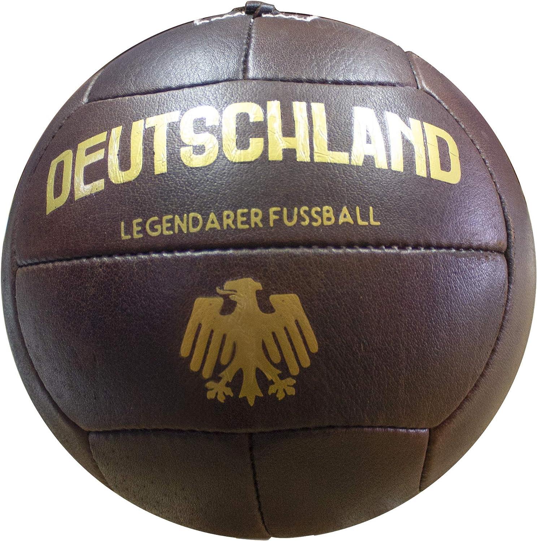 Balon de Fútbol Vintage Alemania. Piel Autentica.Envejecido ...