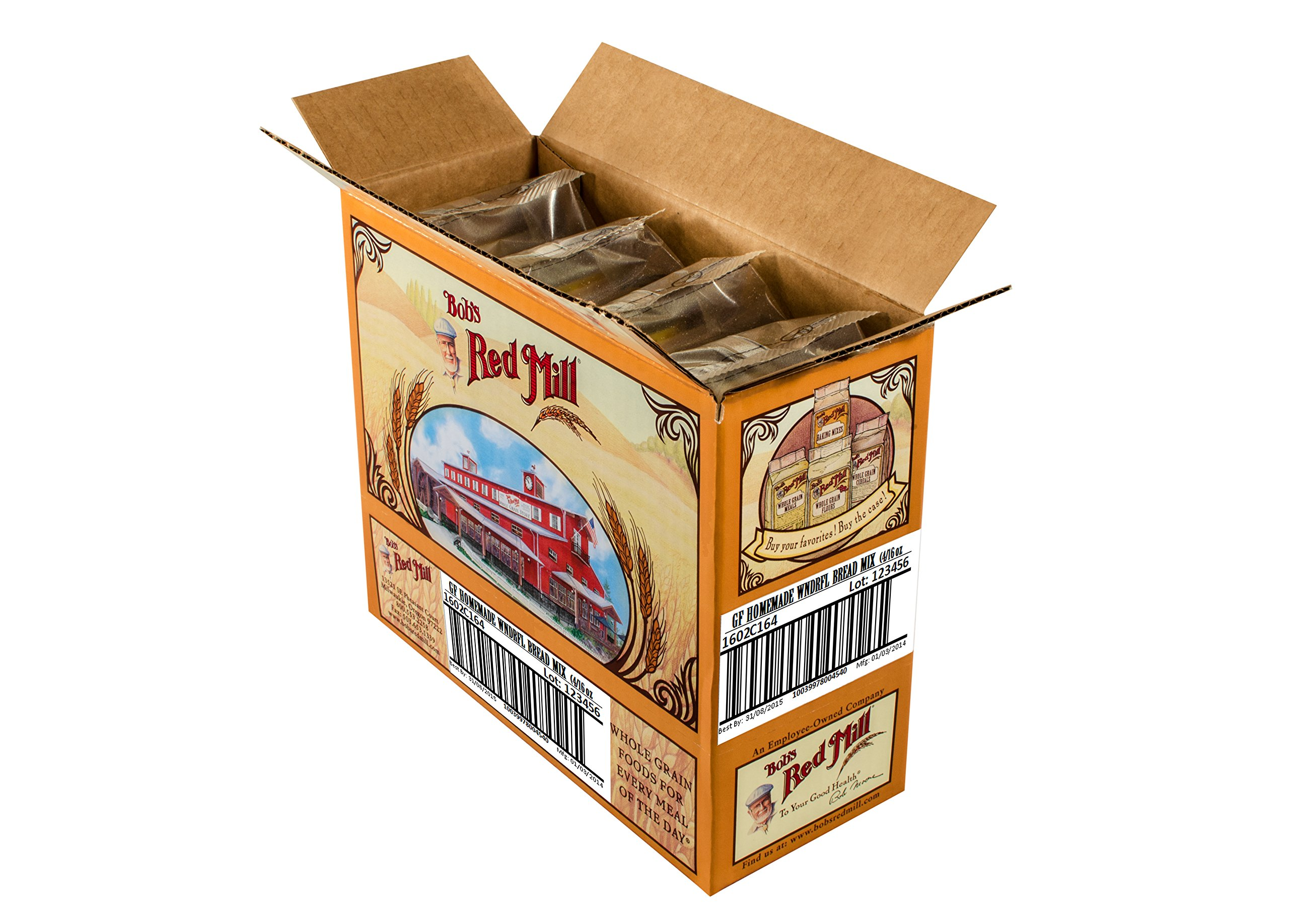 Bob's Red Mill Gluten Free Homemade Wonderful Bread Mix, 16-ounce (Pack of 4) by Bob's Red Mill (Image #8)