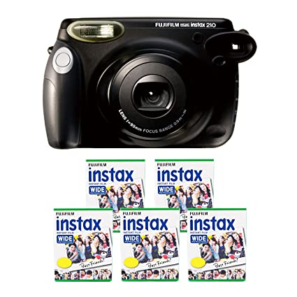 Fujifilm INSTAX 210 Instant Photo Camera Kit With 5 Twin Pack Of Film