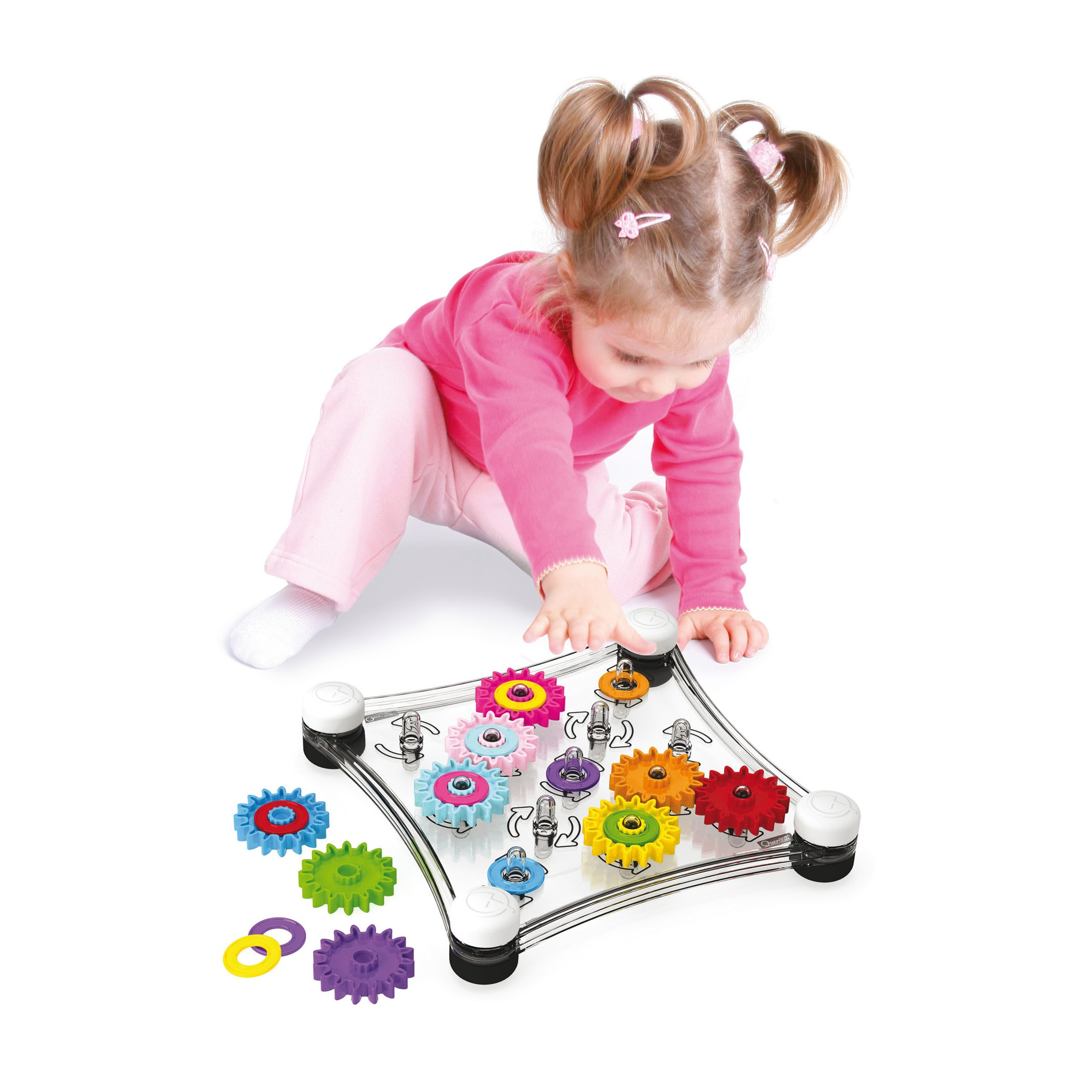 Quercetti Georello Junior - Double Sided Spinning Gear Play Set by Quercetti (Image #3)