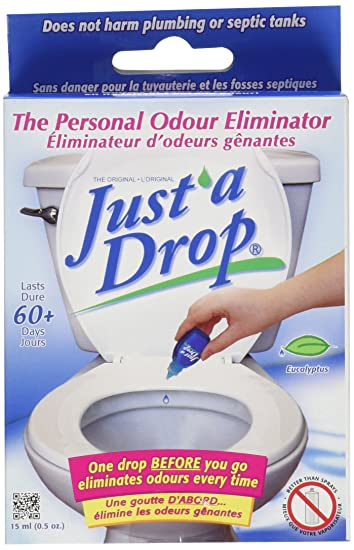 Amazoncom Just A Drop Natural Toilet Odor Eliminator - Bathroom smell remover
