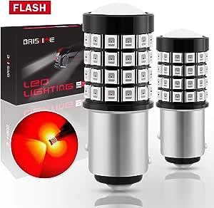 2p White 1157 LED BAY15D P21 5W Strobe Flash Light Brake Blink Tail Reverse Bulb