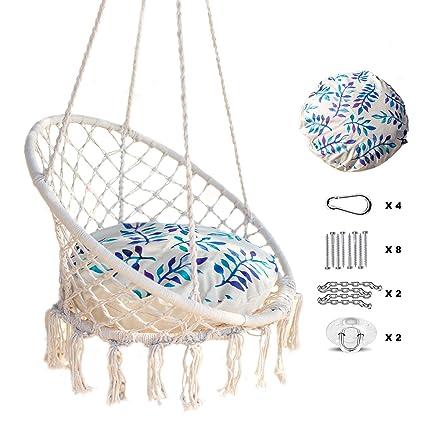 Amazon.com: Nooksta- Hamaca de macramé sensorial con kit ...