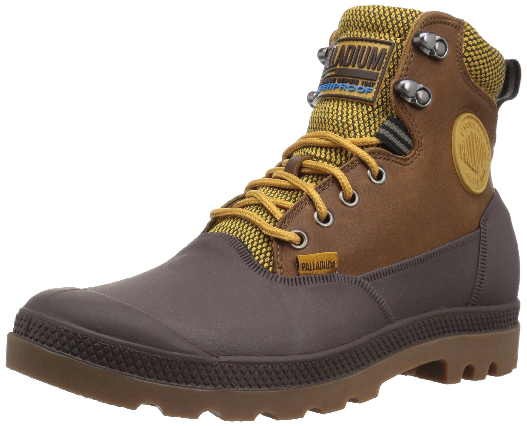 Palladium Men's Sport Cuff Wp 2.0 Rain Boot, Amber Gold/Chocolate, 10.5 M US