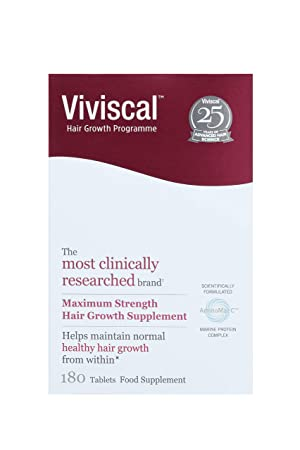 8599ff4af1f Viviscal - Maximum Strength Hair Growth Supplements (3 Month Supply) 180  tablets: Amazon.co.uk: Health & Personal Care