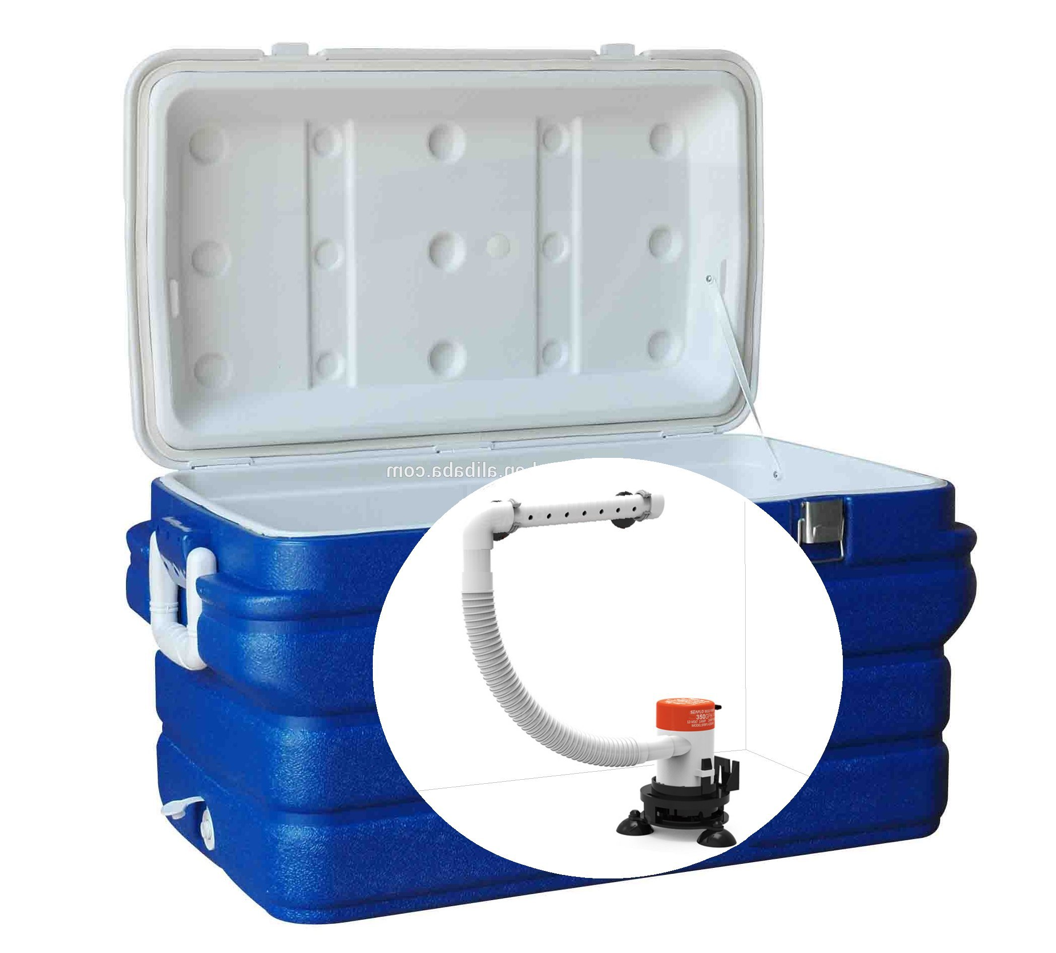SEAFLO Portable 12v Livewell Aeration Pump System Kit for Boats Coolers Buckets Ice Chest by Seaflo