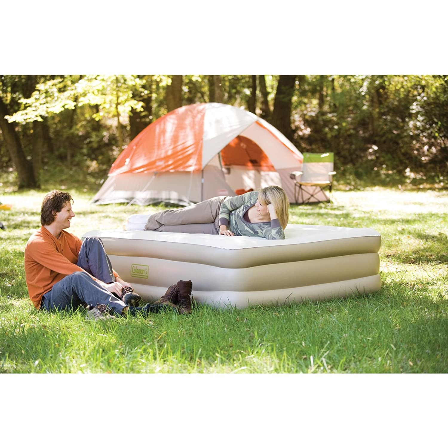 amazoncom coleman doublehigh supportrest camping air mattresses sports u0026 outdoors