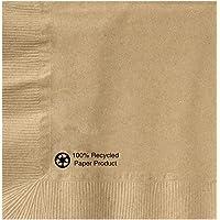 Hoffmaster 126378 Kraft Beverage Napkin, 1 Ply, 1/4 Fold, 10\ x 10\, Natural (Packs of 1000)