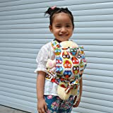 Sigzagor Baby Doll Carrier Mei Tai Sling Toy For Kids Children Toddler Front Back,Mini Carrier,Owl,Dot,Flower,Kaleidoscope (Owl)