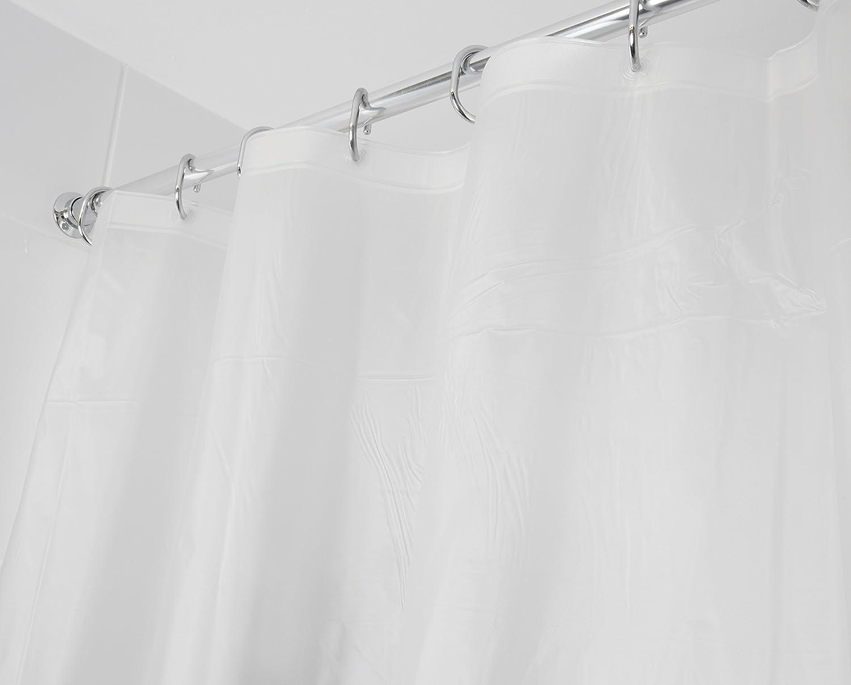 Croydex Fully Waterproof Plain Frosty PVC Shower Curtain Amazoncouk Kitchen Home