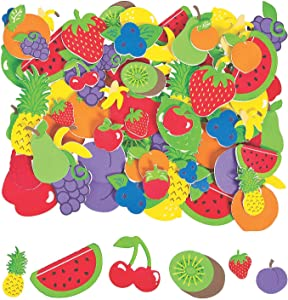 Fabulous Foam Fruit Shapes - Crafts for Kids and Fun Home Activities