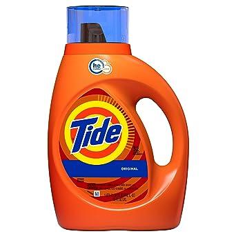 Tide Original Scent HE Turbo Clean detergente líquido para lavandería, 50 oz, 32 cargas