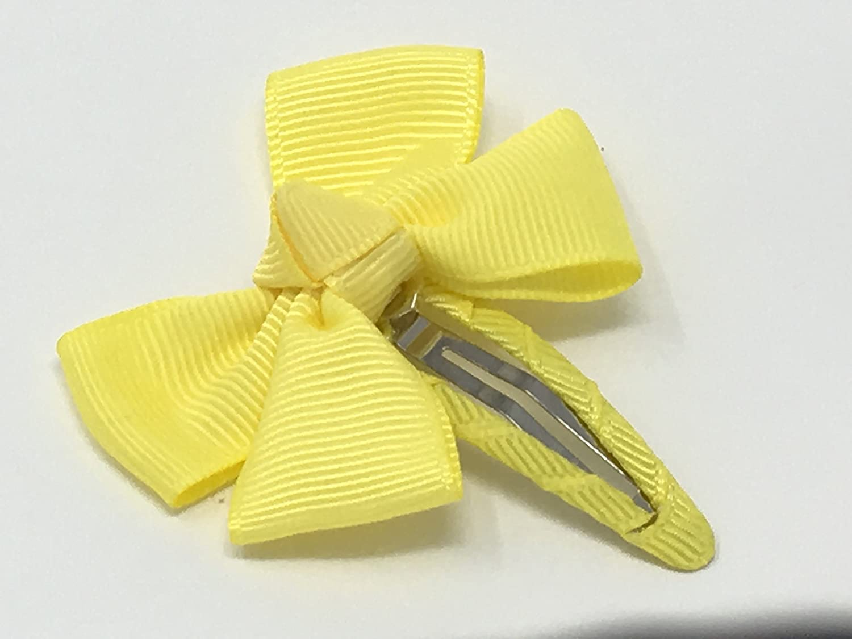 Yellow Hair Bow Snap Clip Hair Bow