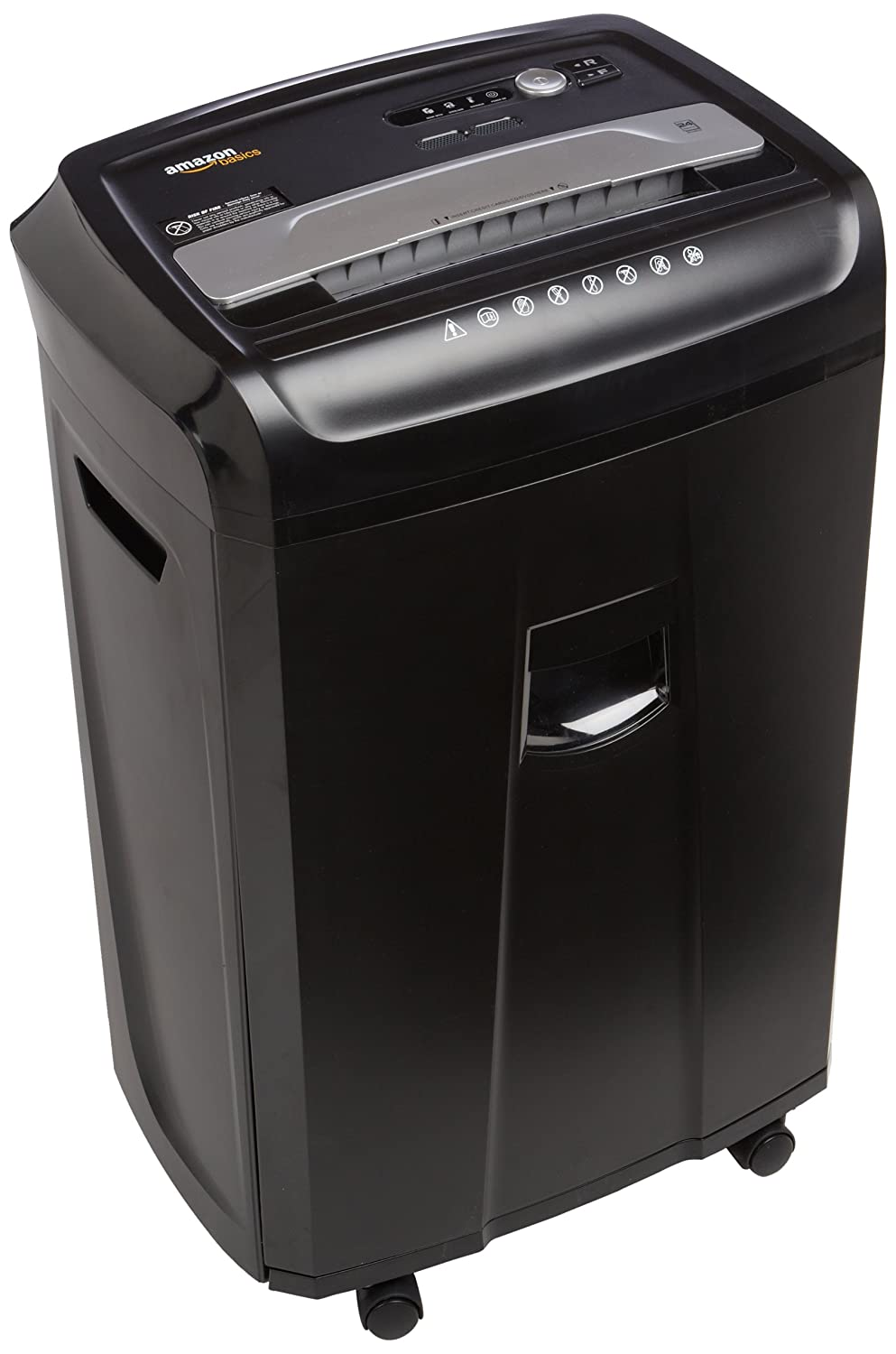 Amazon.com : AmazonBasics 24-Sheet Cross-Cut Paper, CD, and Credit Card  Shredder with Pullout Basket : Electronics