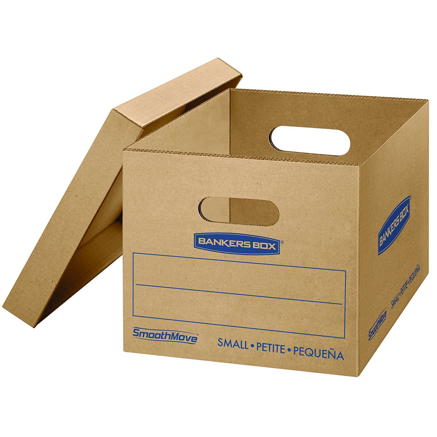 18 x 15 x 14 Inches 7717201 Medium Bankers Box SmoothMove Classic Moving Boxes Easy Carry Handles Tape-Free Assembly 8 Pack