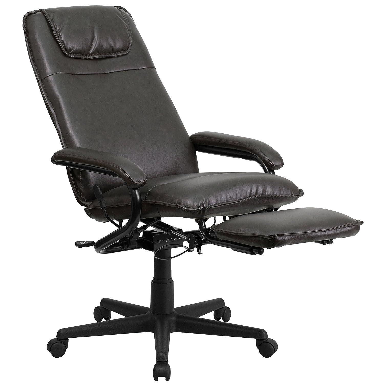 Amazon Flash Furniture High Back Brown Leather Executive