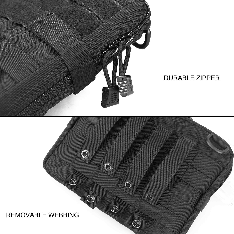 AMYIPO Tactical Admin Molle Pouch Multi-Purpose Tool Holder Modular Utility Bag Tools EDC Admin Attachment Pouches
