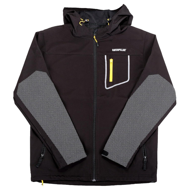 Caterpillar Workwear Capstone Herren Softshell Jacke mit Kapuze (4XL) (Schwarz)