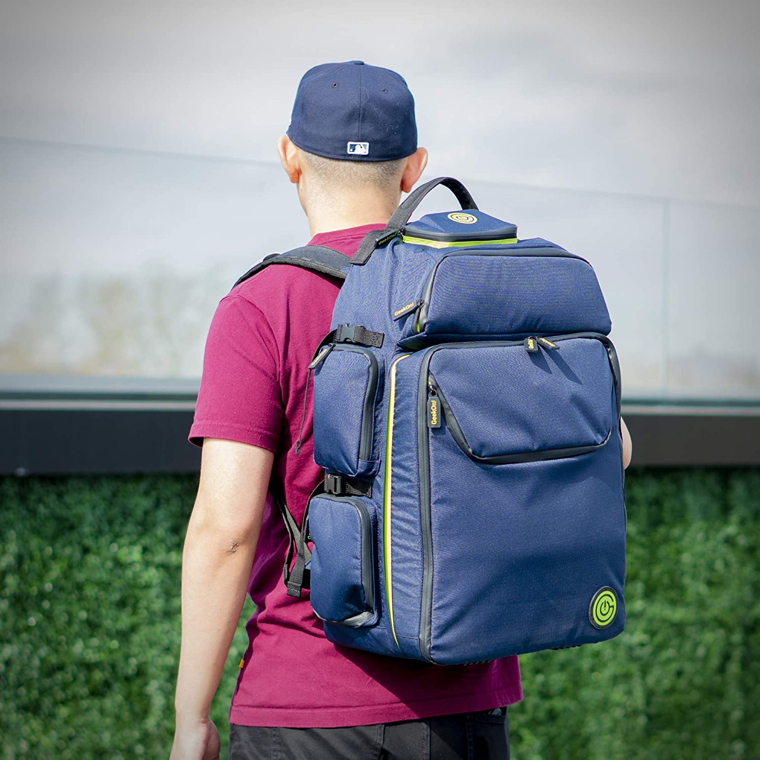 Expandable Multi-Functional Backpack The Smartest Way to Carry Your Games Blue//Green Ultimate Boardgame Backpack Carry-on Compliant