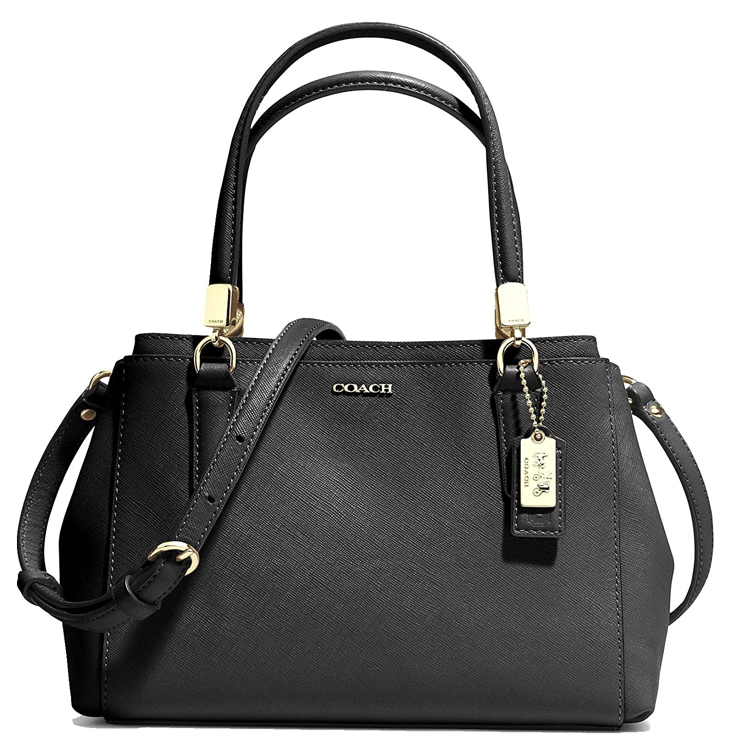 3b807b37f COACH 30402 Madison Mini Christie Carryall Shoulderbag in Light Gold Black:  Handbags: Amazon.com