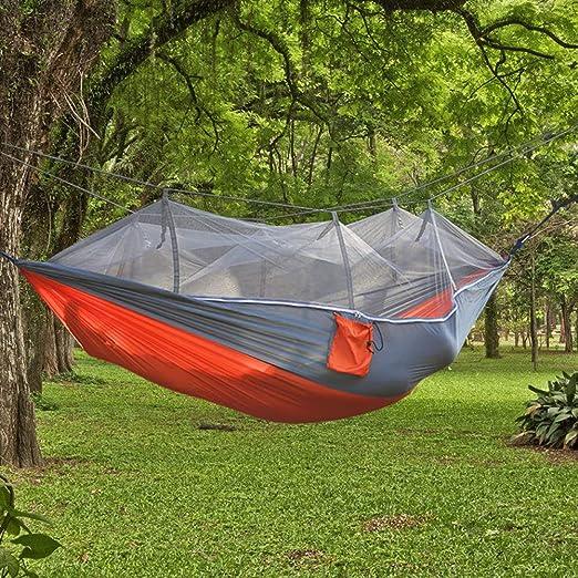 BASA Hamaca mosquitera para Exterior, Cama abatible para 2 Personas, Hamaca para jardín, Hamaca Ultraligera para Exterior, 260 * 140 cm: Amazon.es: Jardín