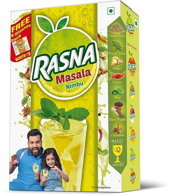 Rasna Fruit Fun 32 Glass monocarton, Nimbu Masala Pack of 5