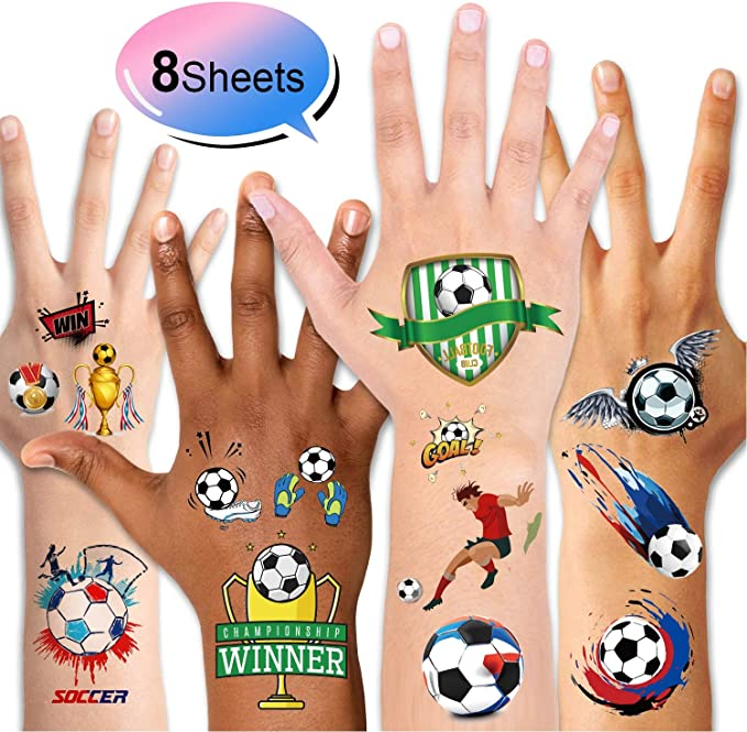 Football Whistles Bouncy Footballs Football Key Rings Gel Ink Pens Konsait 31pcs Football Party Supplies Football Tattoos for Kids Birthday Gift Football Party Favors Boys Party Bags Fillers