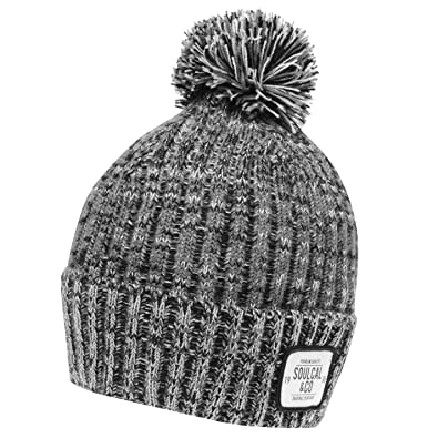 109ea0e2 SoulCal Mens Jarilo Hat Bobble Knitted Classic