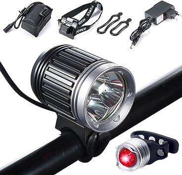Luz de Bicicleta, S SUNINESS LED Luz de Bicicleta LED Impermeable ...