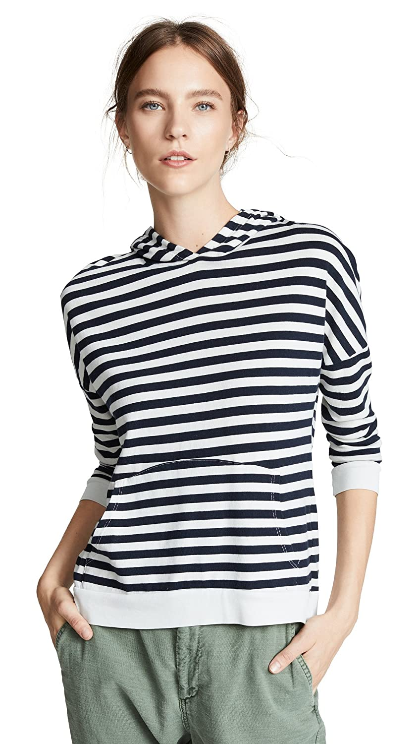 Stateside Women's Striped Hooded Pullover