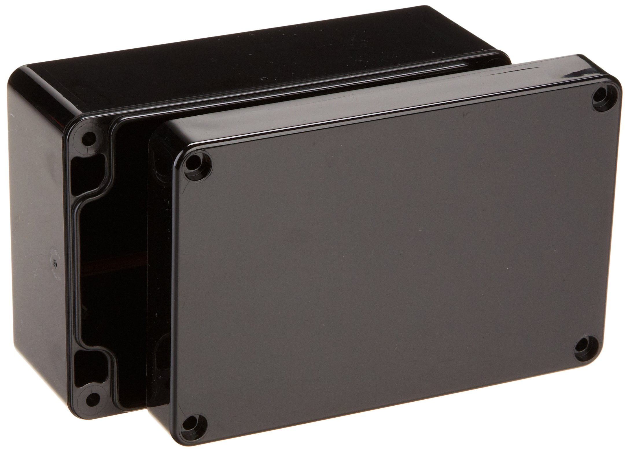Serpac RB53-1TB1BB Polycarbonate Plastic Enclosure, 4.72'' Length x 3-5/32'' Width x 2-11/64'' Height, Top Black/Bottom Black