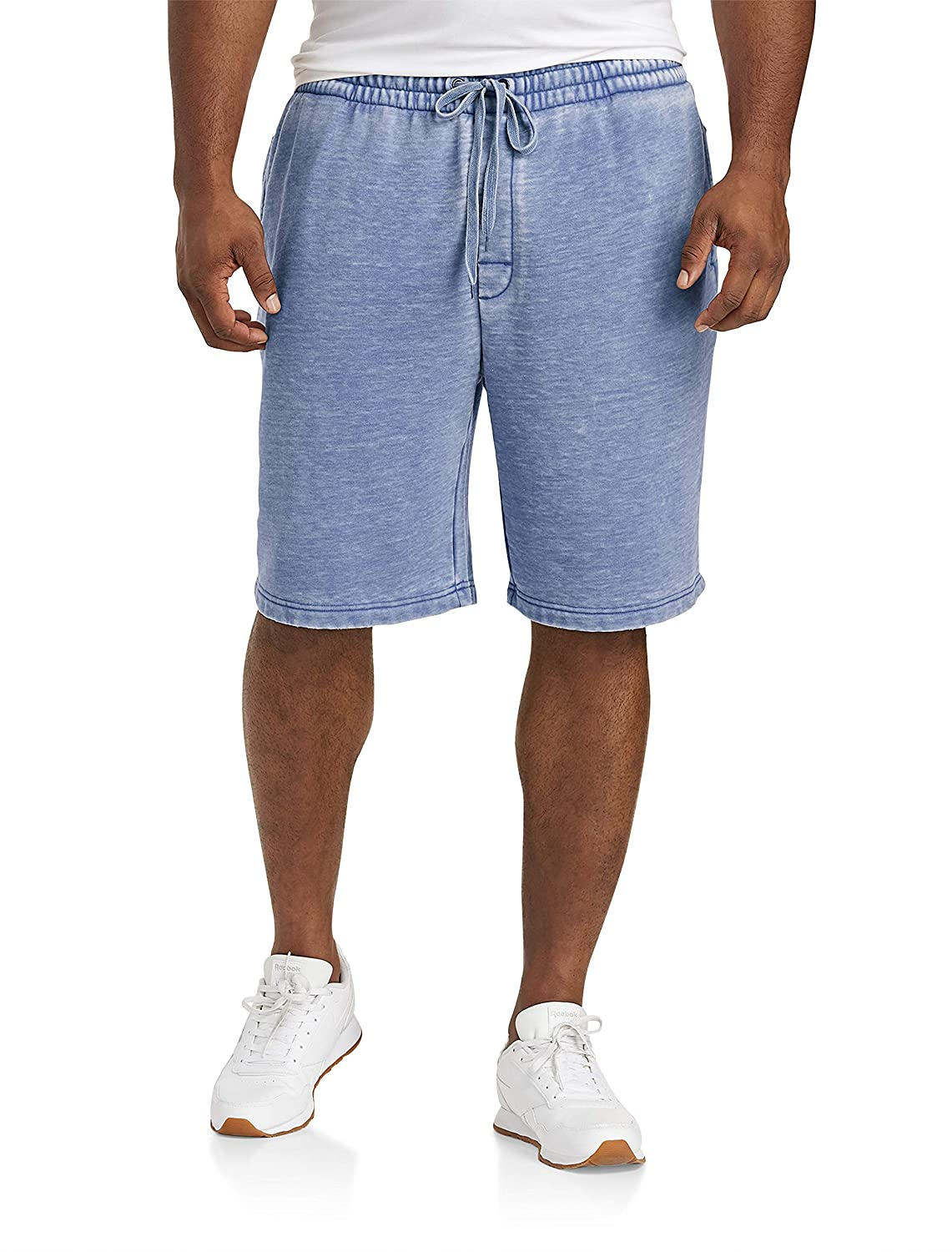 Orange Burnout Society of One by DXL Big and Tall Burnout Active Shorts