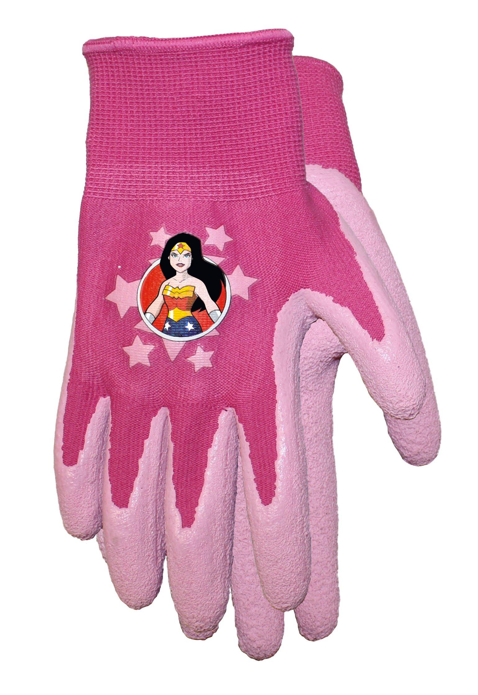 Wonder Woman Kids Garden Gripper Gloves, Style: DCW100T