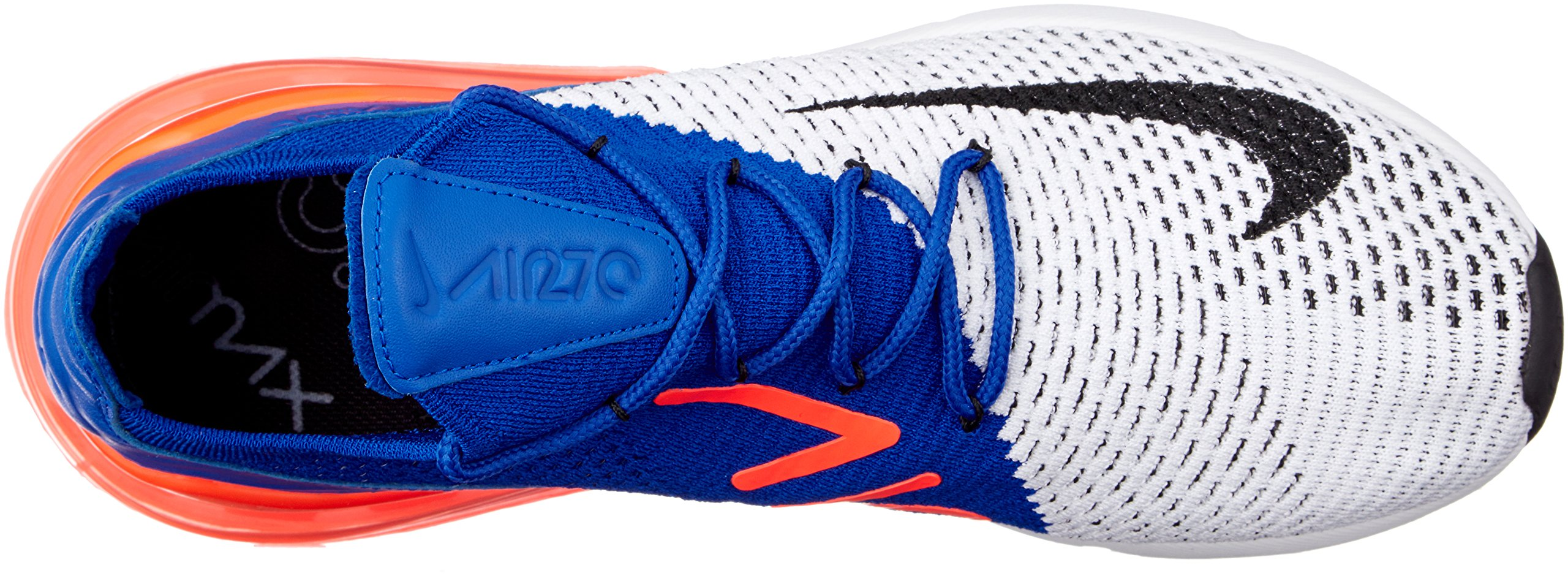 Nike Men's Air Max 270 Flyknit, White/Black-Racer Blue, 10.5 M US by Nike (Image #7)