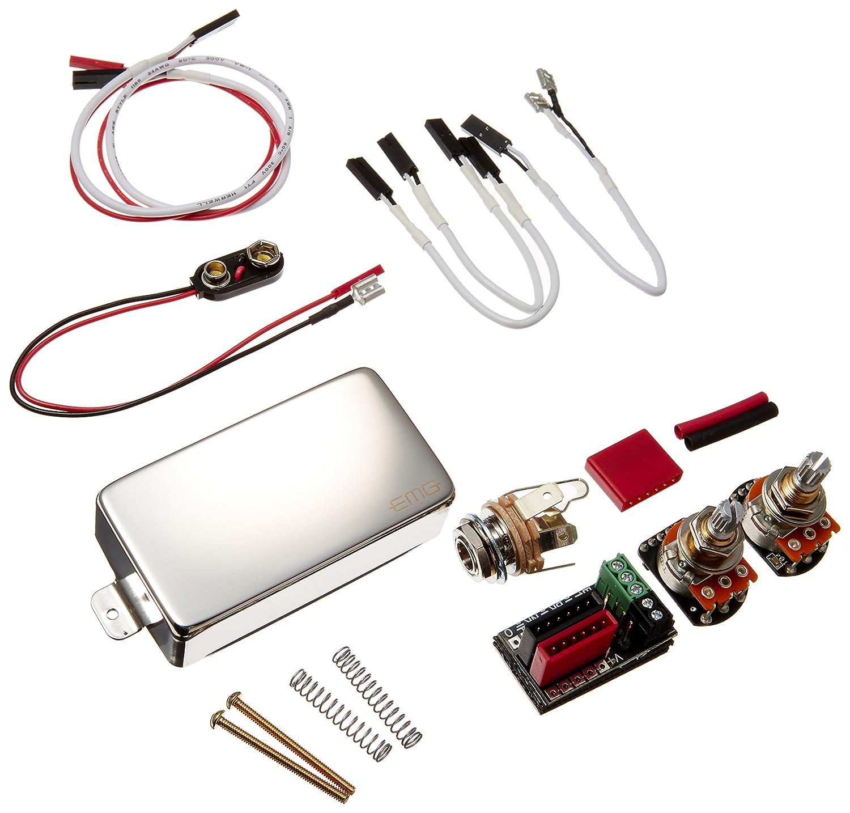 EMG イーエムジー エレキギター用 アクティブピックアップ EMG 60 クロームカバー (国内正規品) B003UYP4DG  Chrome
