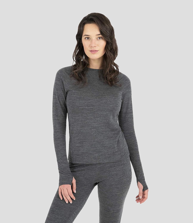 Terramar Women's Attention brand Max 65% OFF Long Sleeve Scoop